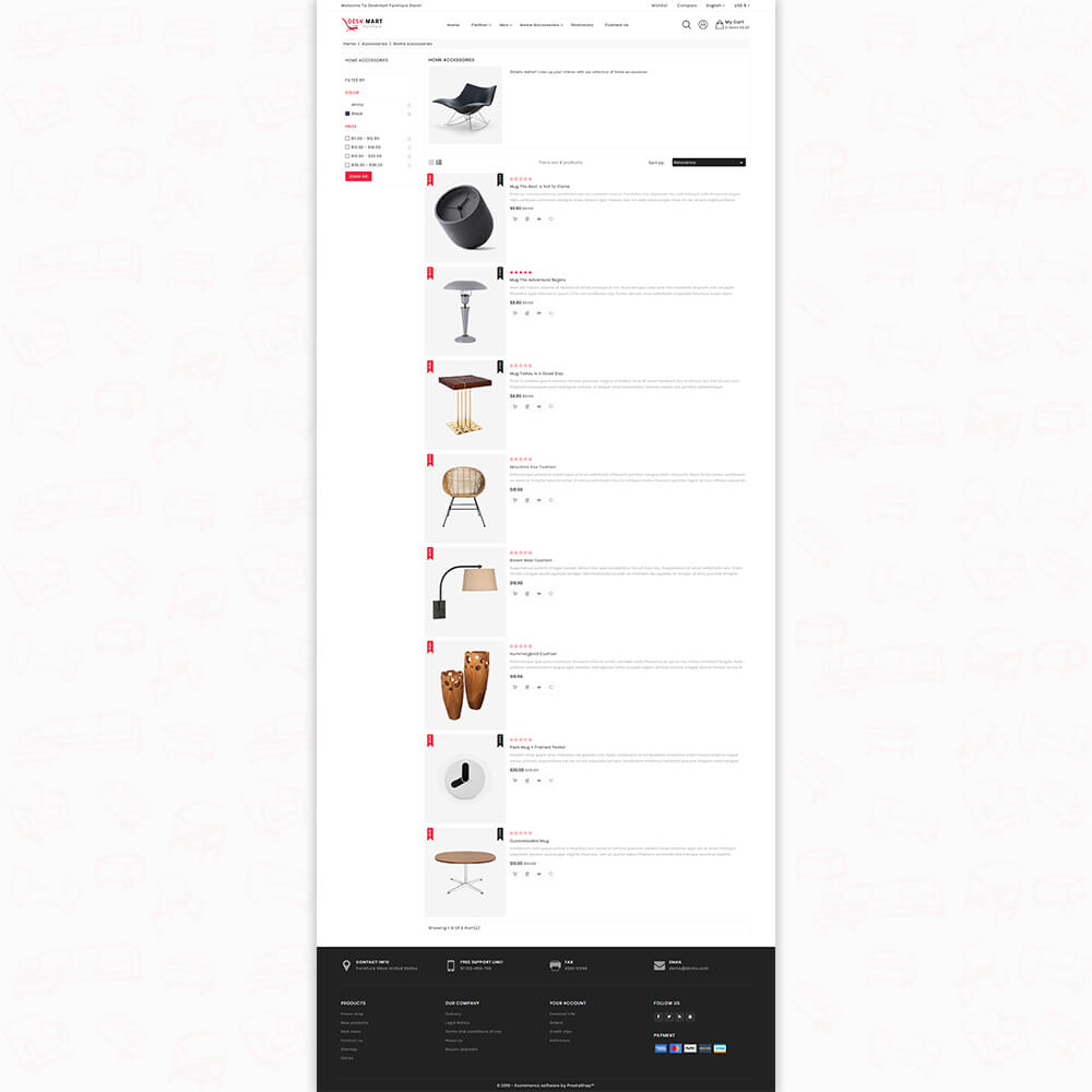 DeskMart - The Furniture Prestashop Template