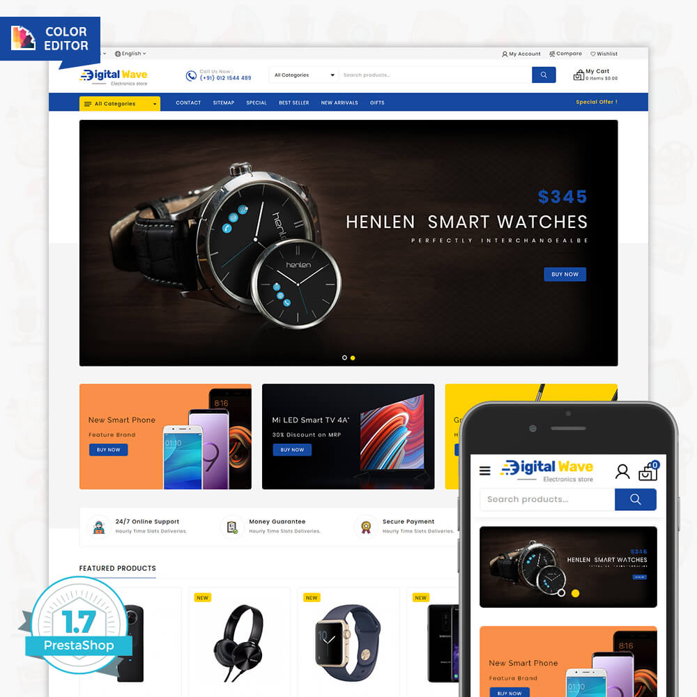 Digital wave The Electronics Store Template
