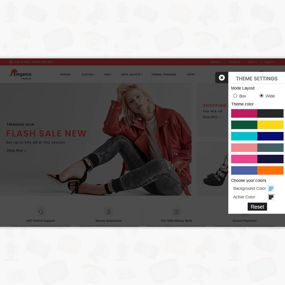 Elegance The Fashion Store Template