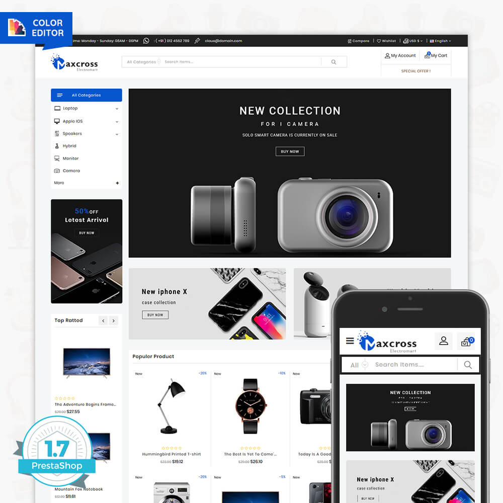 MaxCross - The ElectronicsMart Template