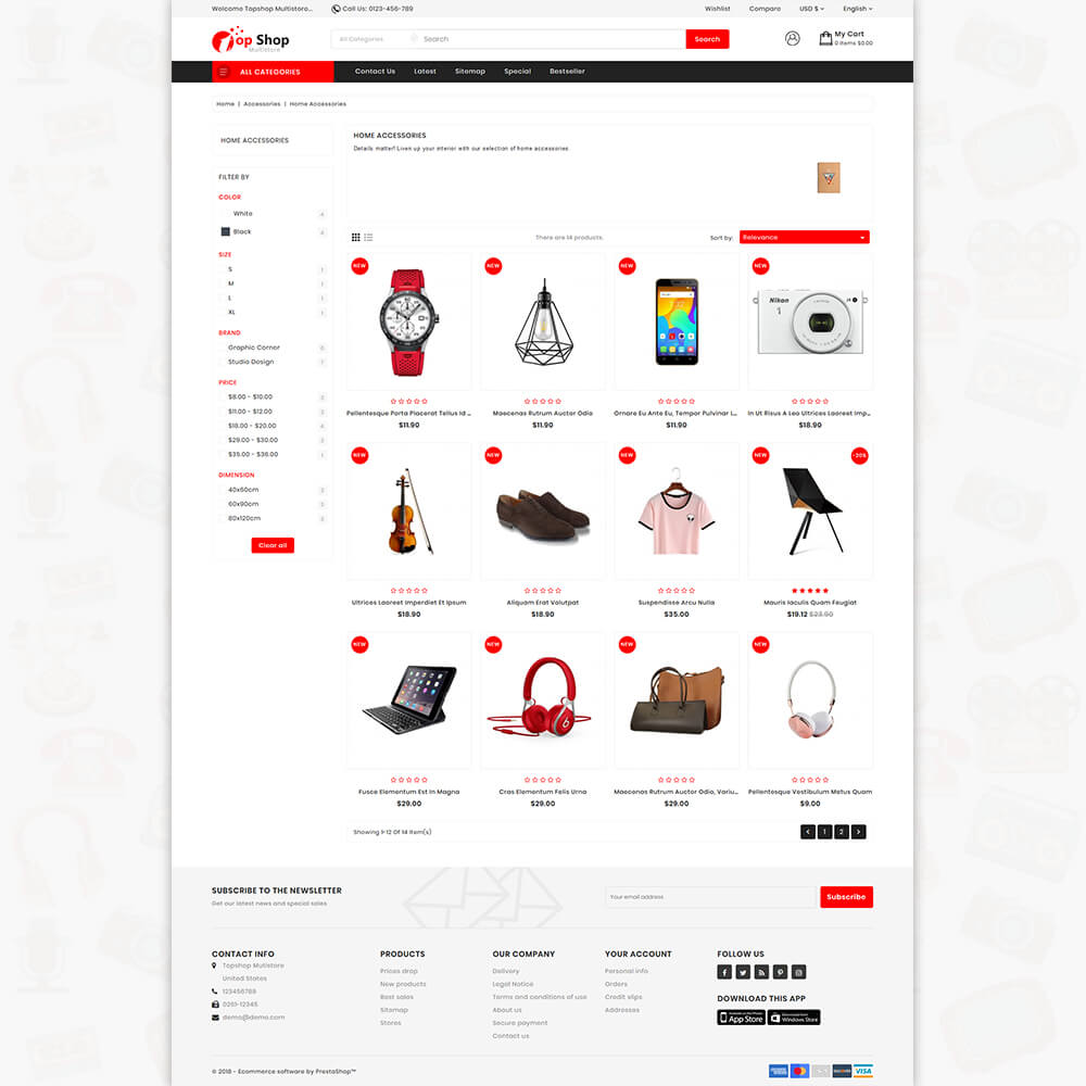 TopShop - Online Shopping Mart Template