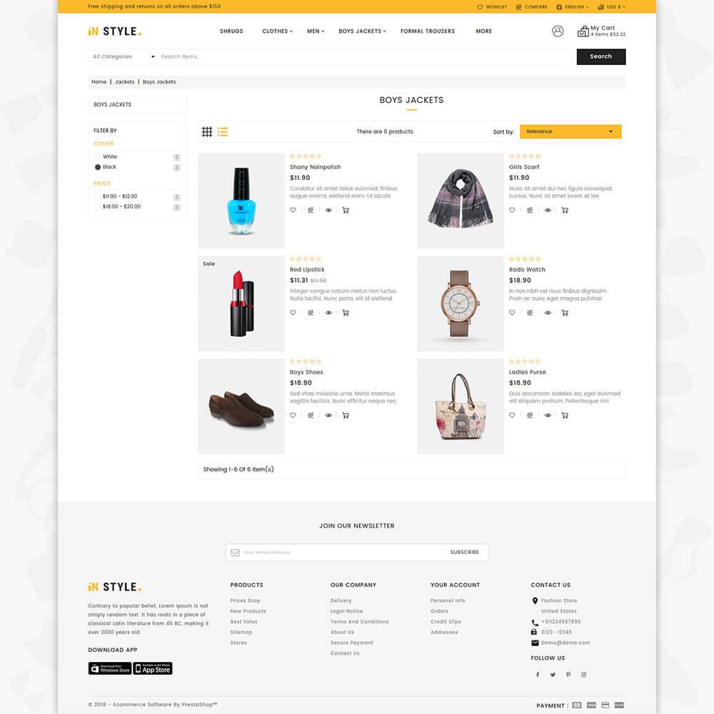InStyle Shop Store Template