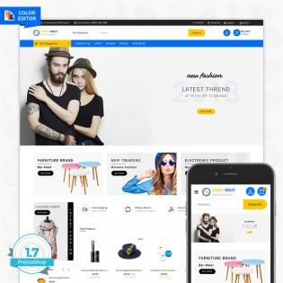 SlamMart - The Multi Shop Fashion PrestaShop Template