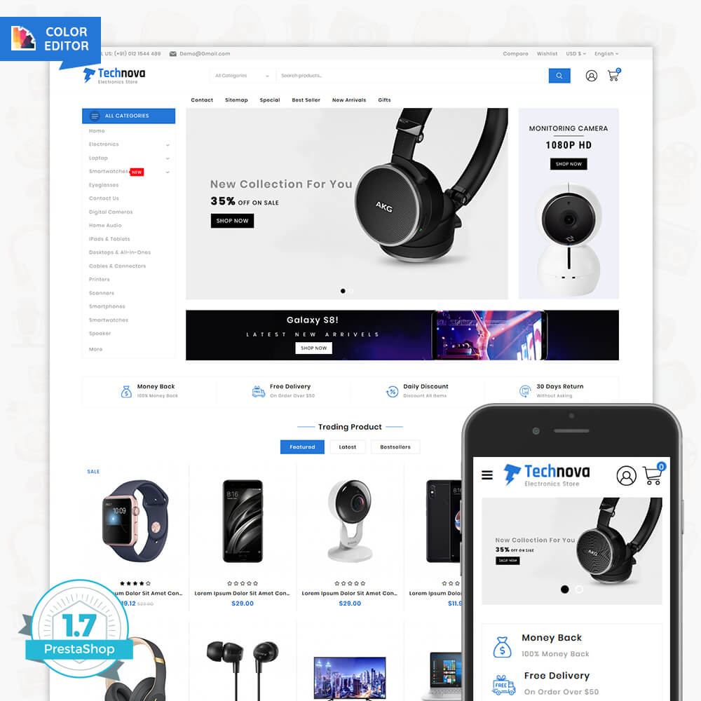 Technova The Best Electronics Store Template