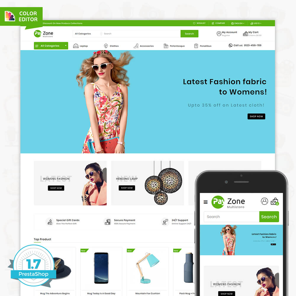 Payzone The Best MultiStore Template