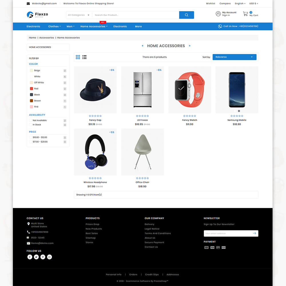 Flaxzo - The Best Multi Store Template