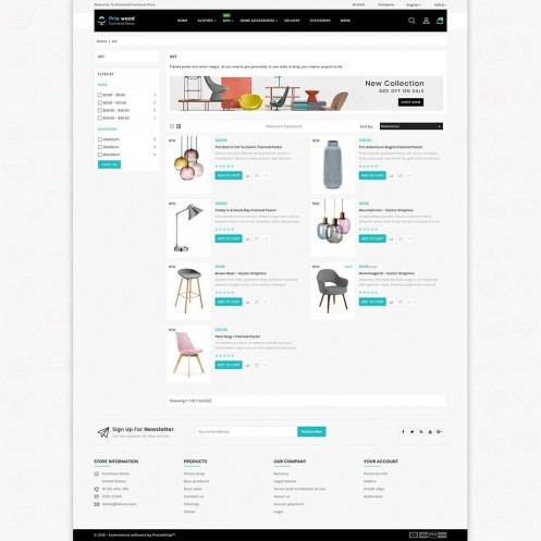 Priowood - The Best Furniture PrestaShop Theme