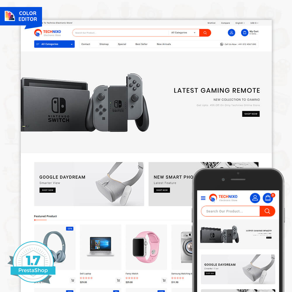 Technixo The Best Electronics Store Template