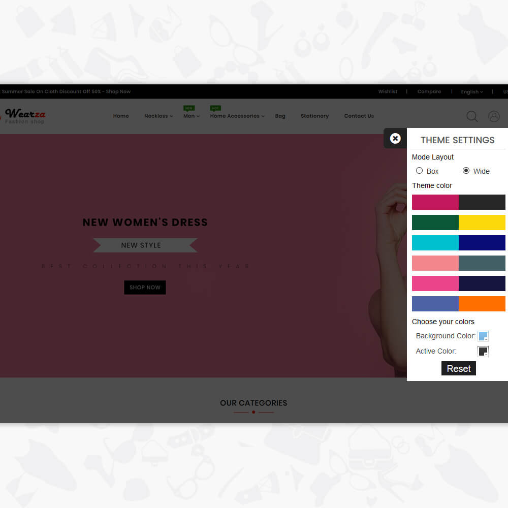 Wearza - The Fashion Store Template