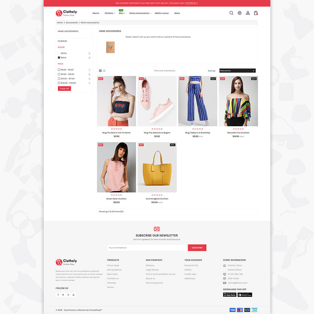 Clothly - The Fashion Store Template