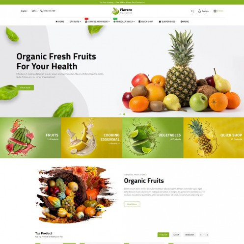 Flavoro The Best Organic PrestaShop Theme