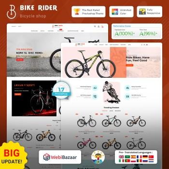 Bike Ryder - The Bicycle PrestaShop Theme
