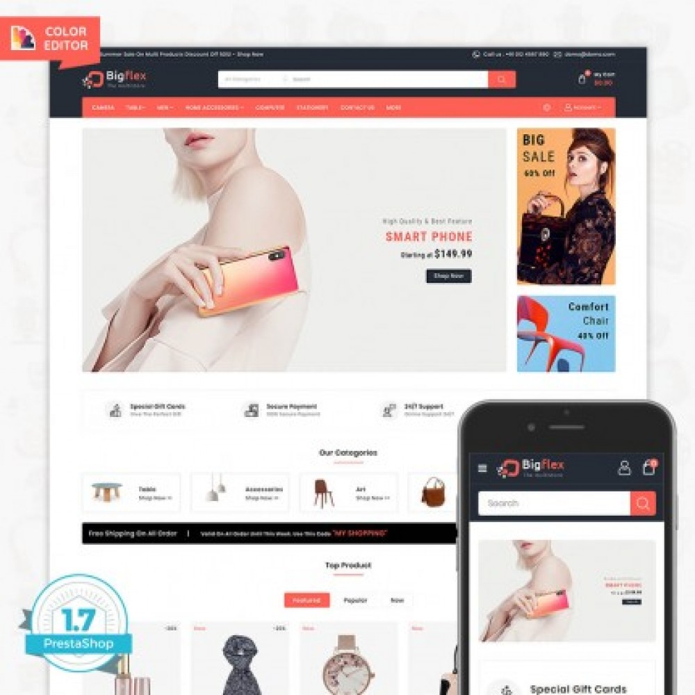 BigFlex - The Multi Store Template