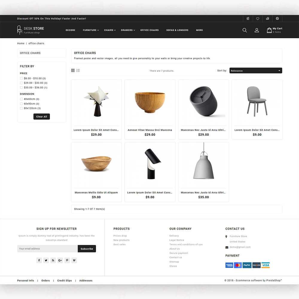 DeskMart - The Furniture Store Template