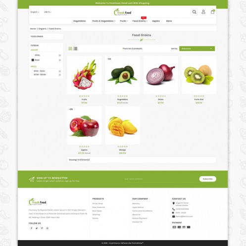 Freshfood The Best Organic Food PrestaShop Theme