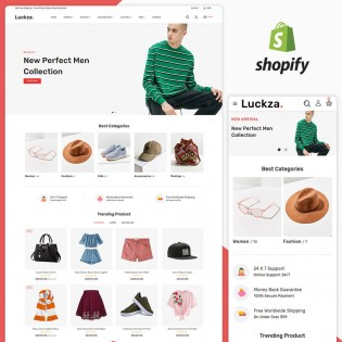 Luckza Fashion Responsive Shopify Theme