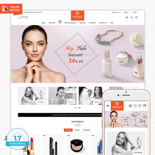Beautica - The Cosmetic PrestaShop Theme