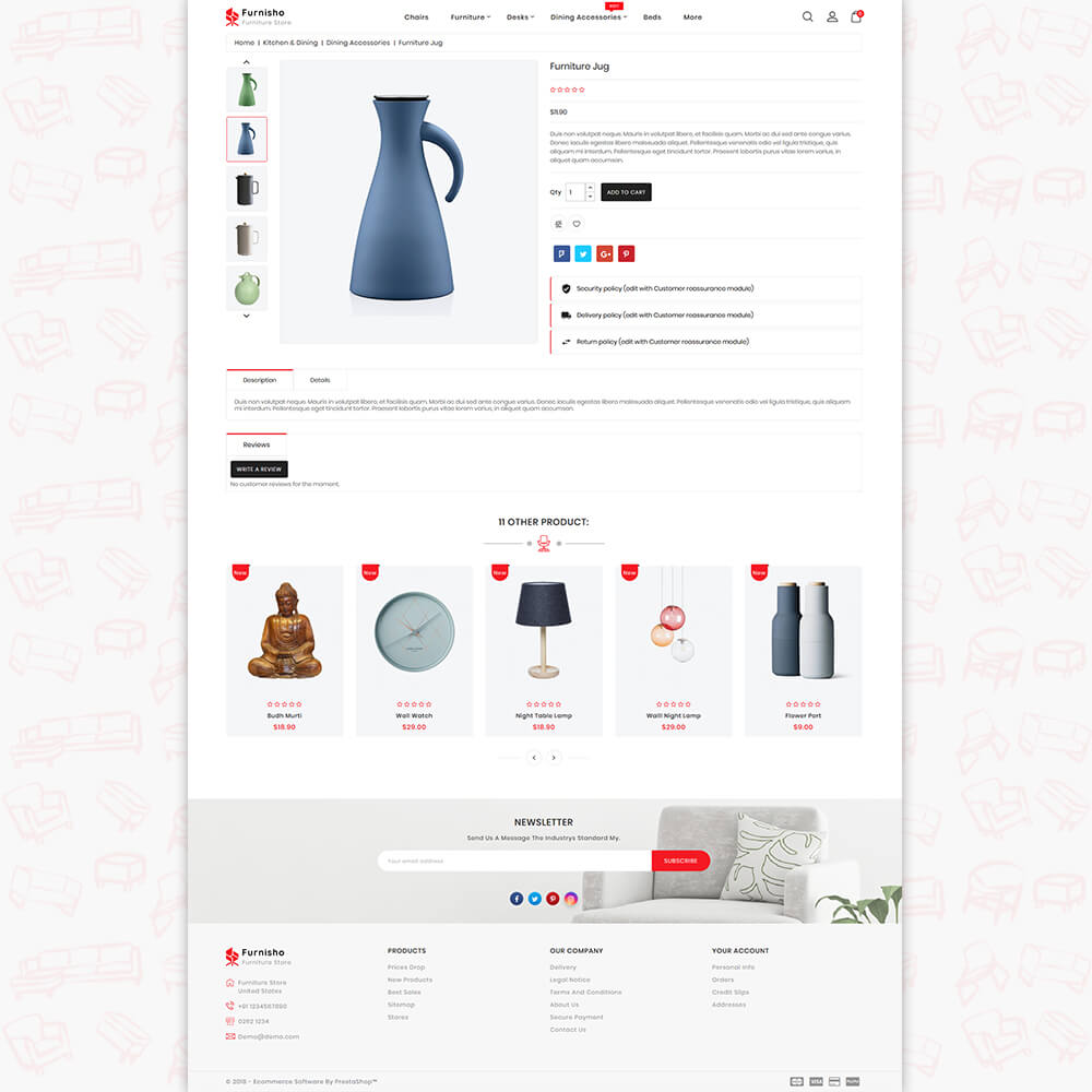 Furnisho The Best Furniture Store Template