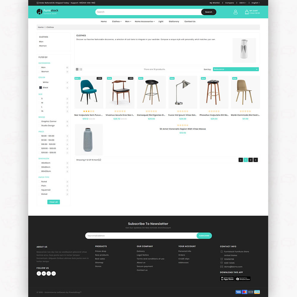 FurniStock - The Furniture Store Template
