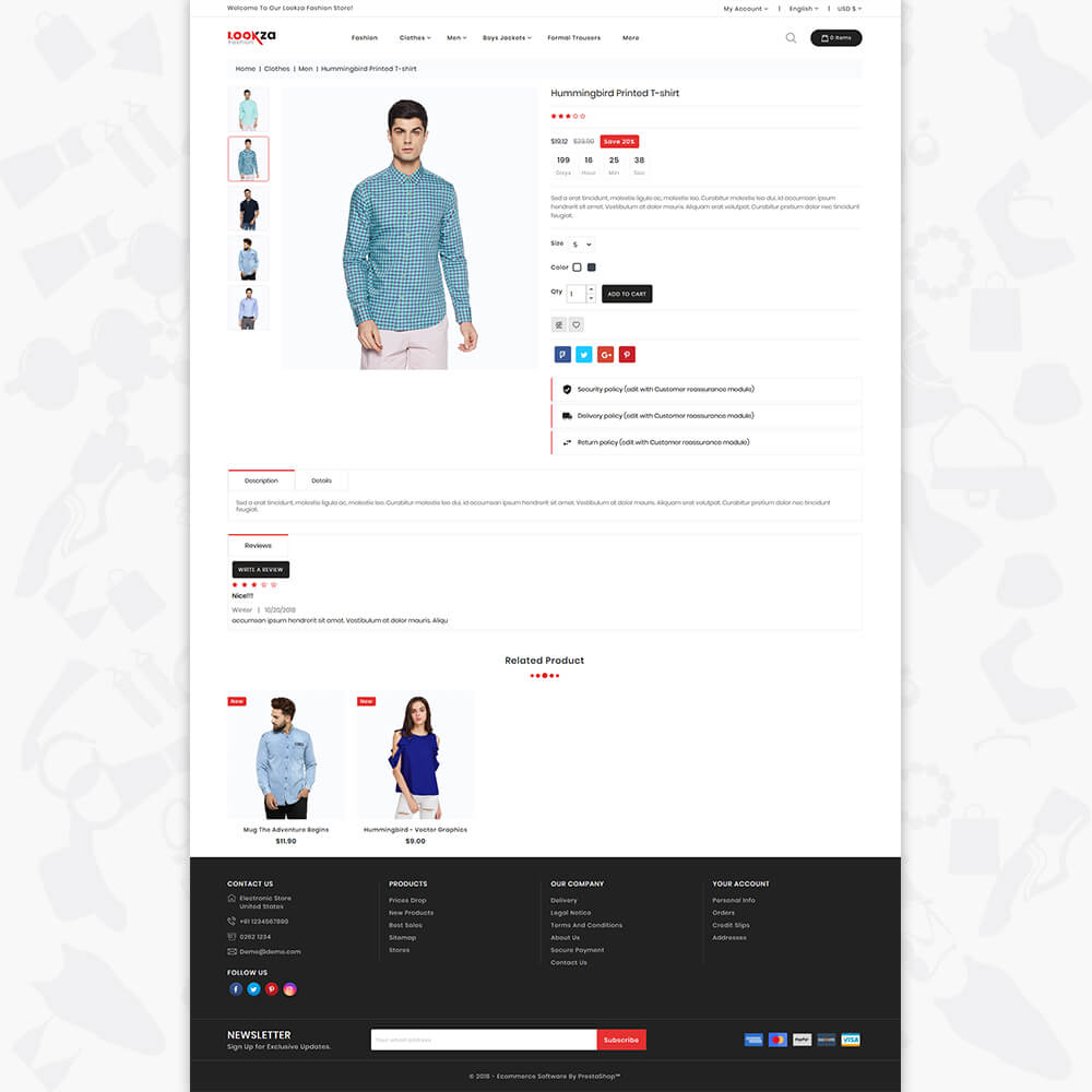 LookZa - The Fashion Shop Template