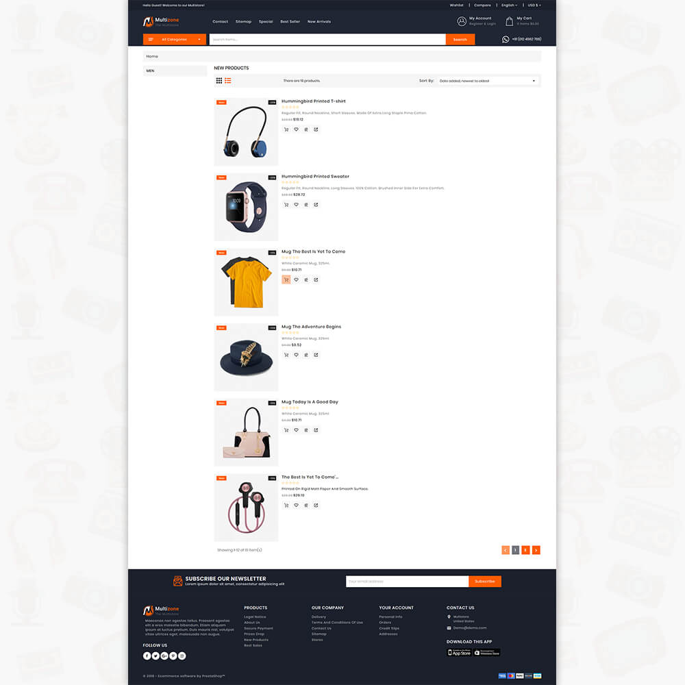 MultiZone - The Multi Shop Template