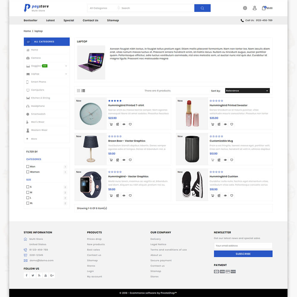 PayStore - The Mega Ecommerce Store Template