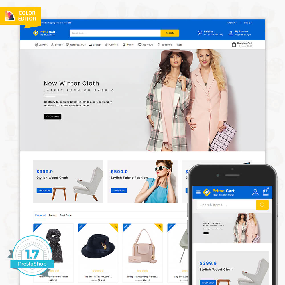 PrimeCart - The MultiStore Template