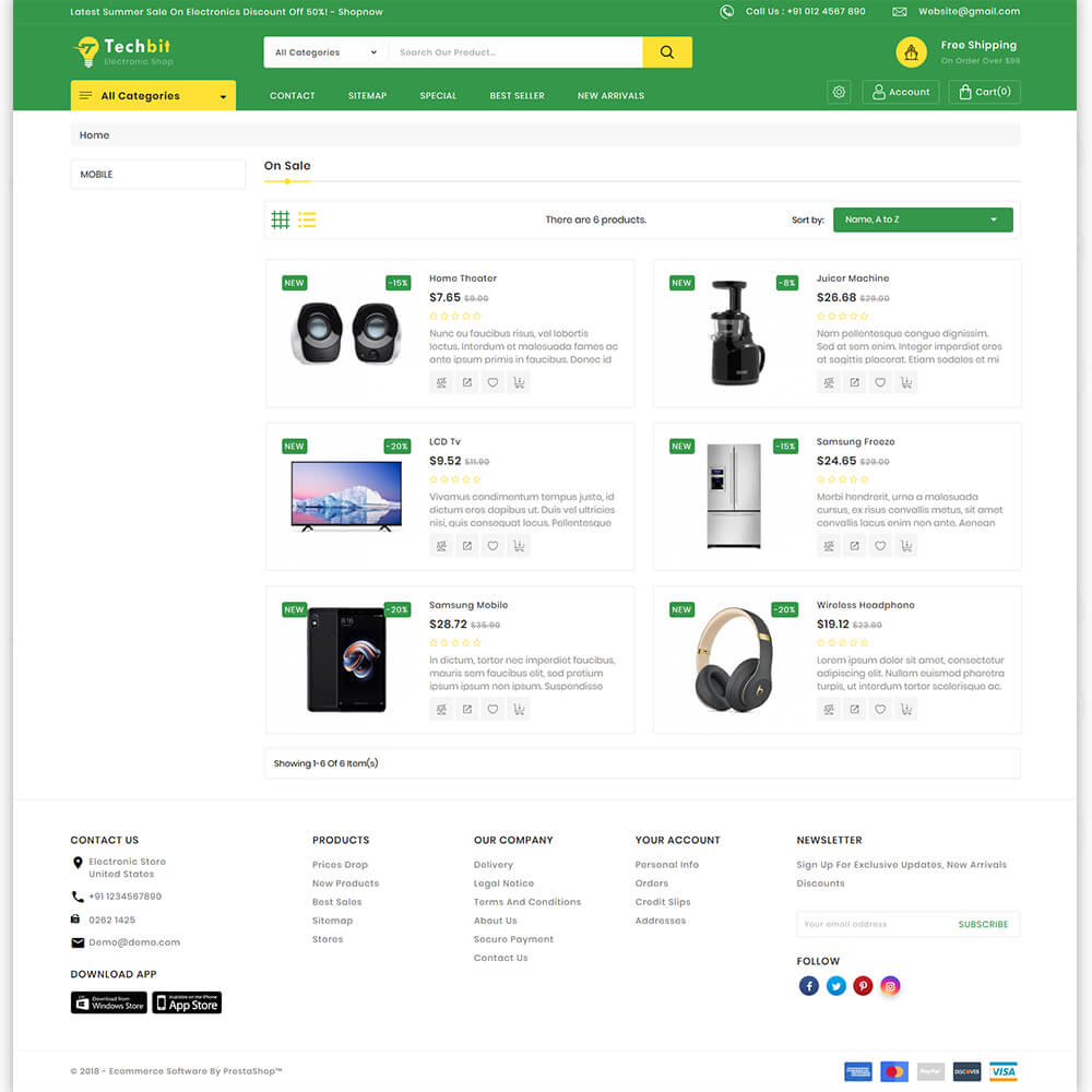 TechBit - The Electronics Store Template