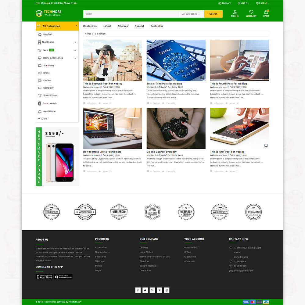 Technore - The Best Electronics Store Template