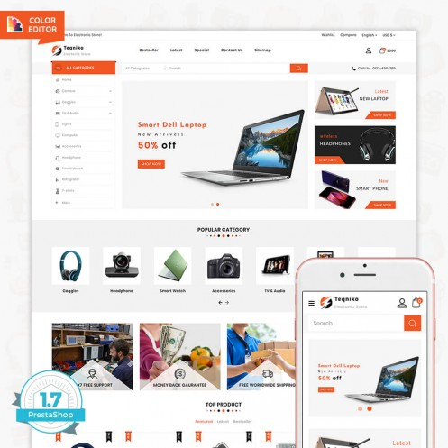 Teqniko - The Electronics Store Template