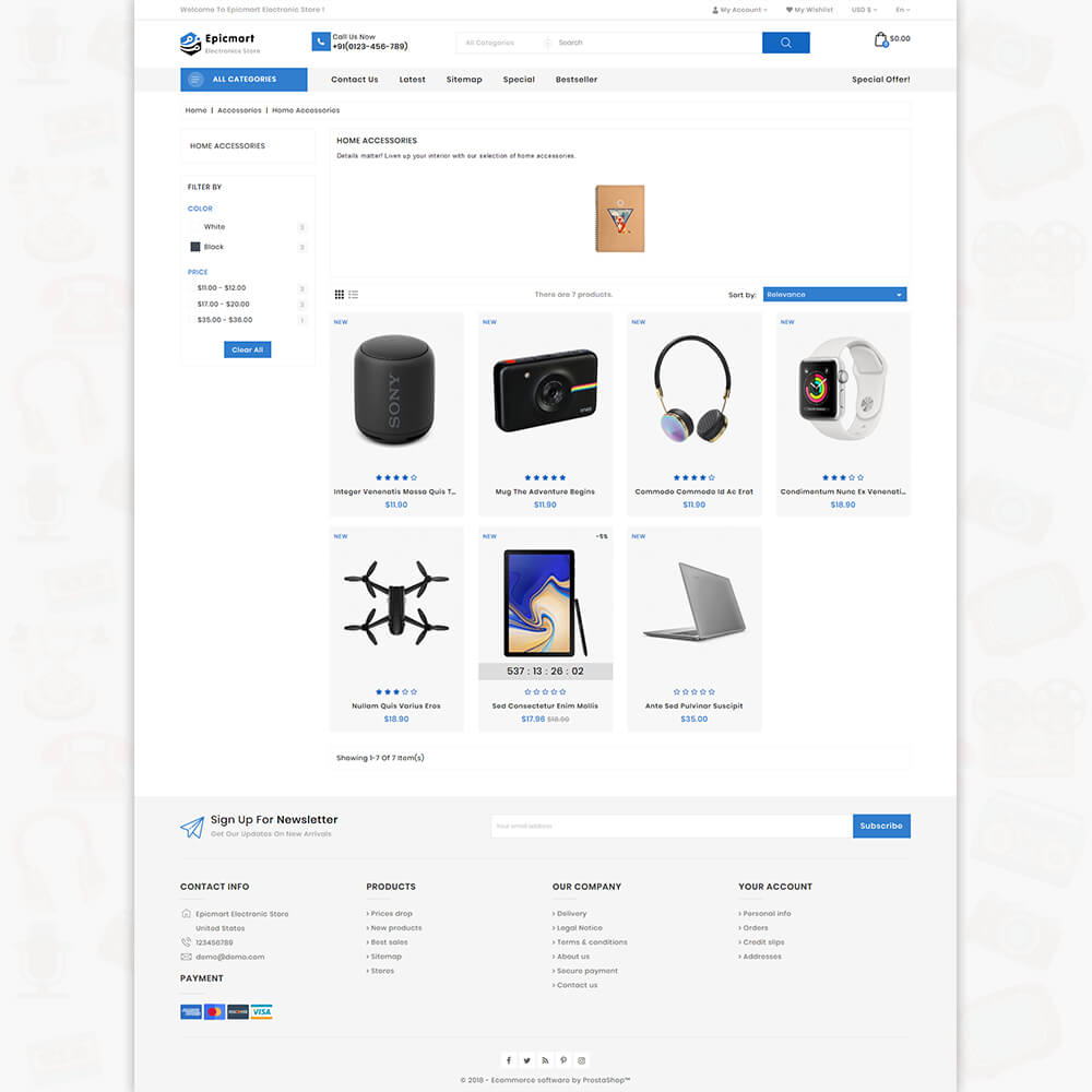 Epicmart - The Best Electronics Store Template