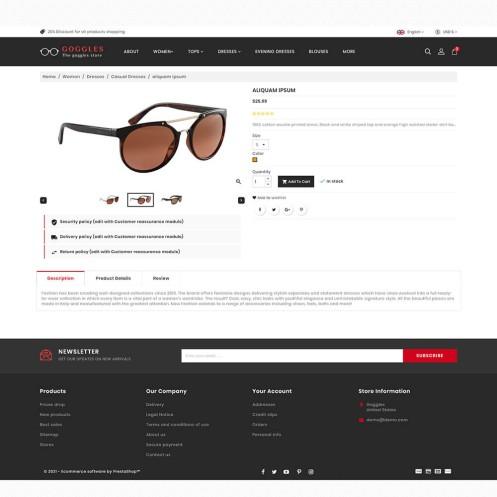 Goggles - The Fashion PrestaShop Theme