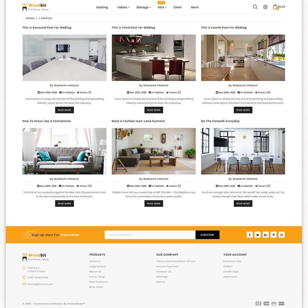 Woodbit - The Furniture Store Template