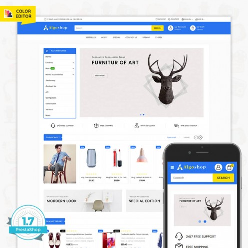 AlgoShop - The Multi Store Template