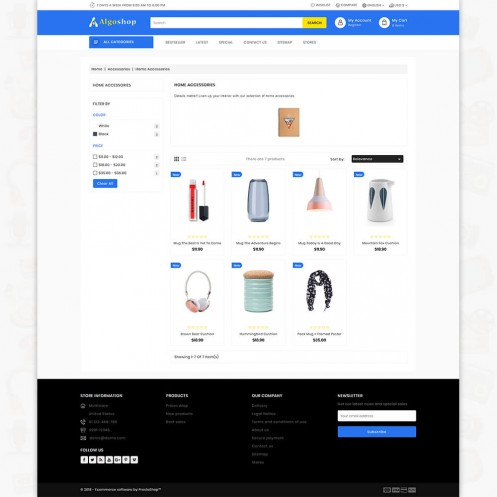 AlgoShop - The MultiStore PrestaShop Theme