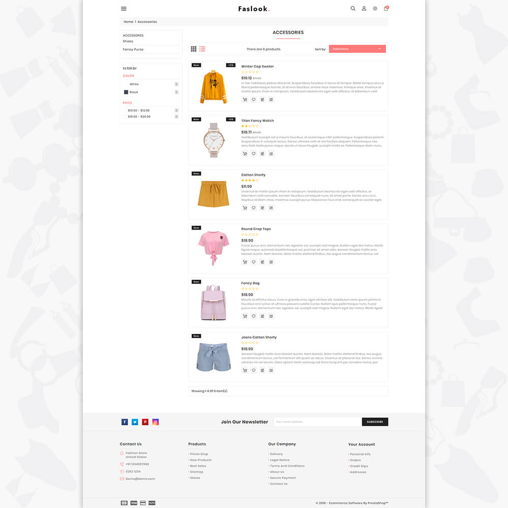 Fashlook - The Fashion Store Template
