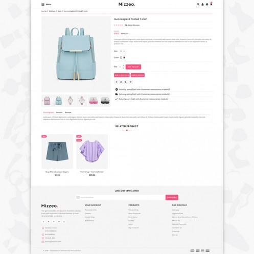 Mizzeo - The Fashion PrestaShop Theme