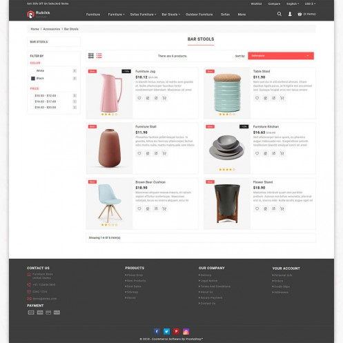 Rubikk - The Furniture PrestaShop Theme