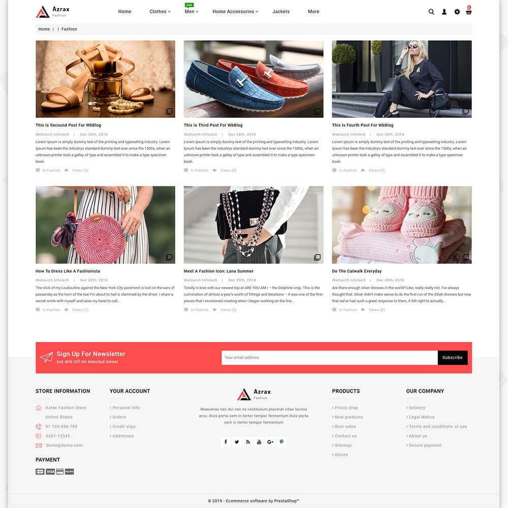 Azrax - The Fashion Store Template