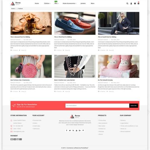 Azrax - The Fashion PrestaShop Template