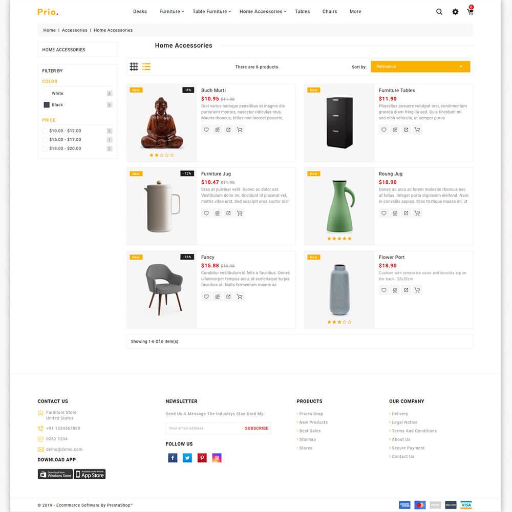 Prio - The Furniture Store Template