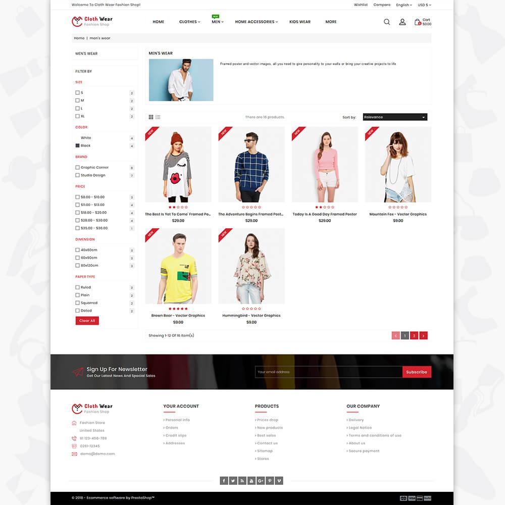 Clothwear - The Furniture Store Template