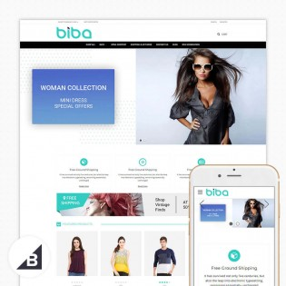 BIba Multipurpose Stencil Big-Commerce Theme