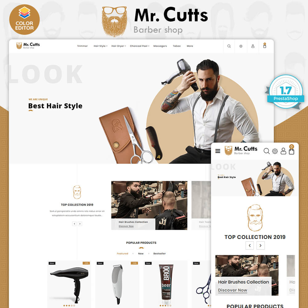 Mr.Cutts - The Barber Store Template