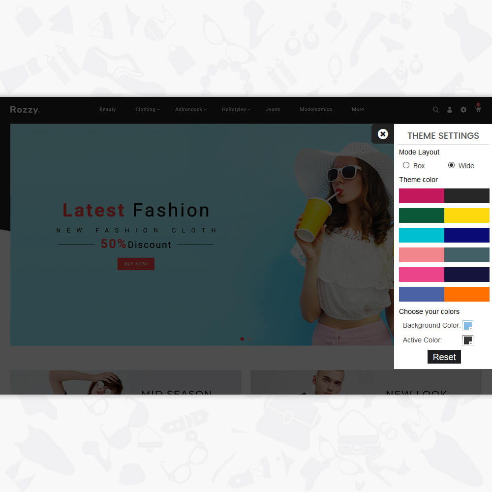 Rozzy - The Fashion Store Template