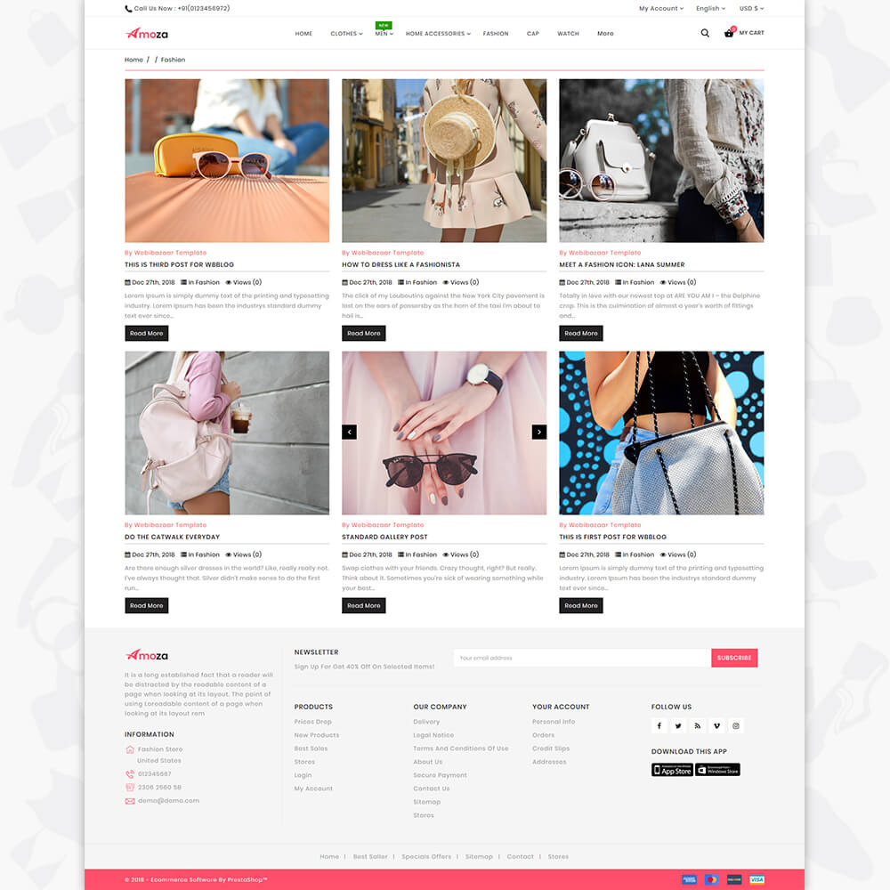 Amoza - The Fashion Store Template
