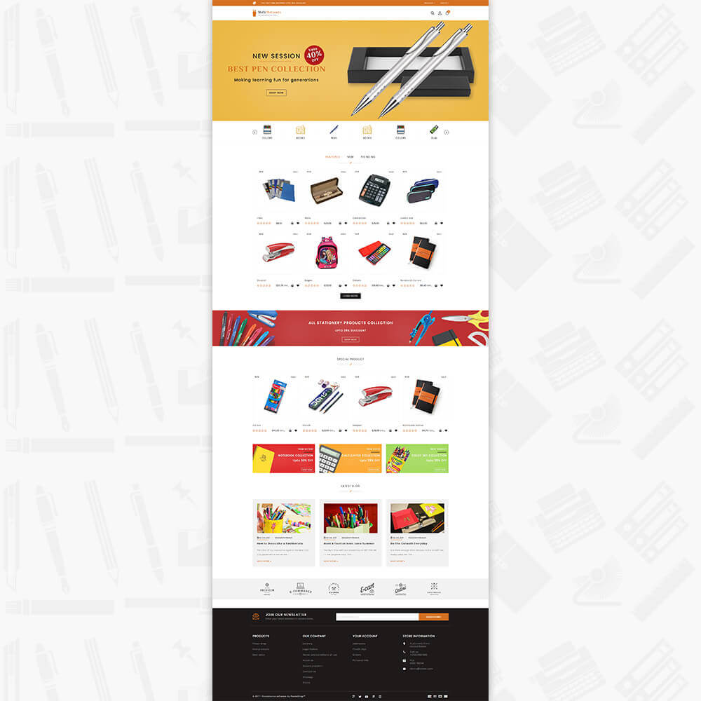 MutiStationery - The Best Stationary Store - Template