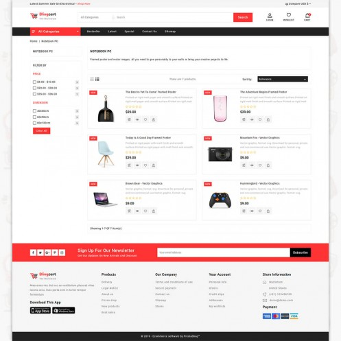 Blingstore - The Multistore PrestaShop Theme
