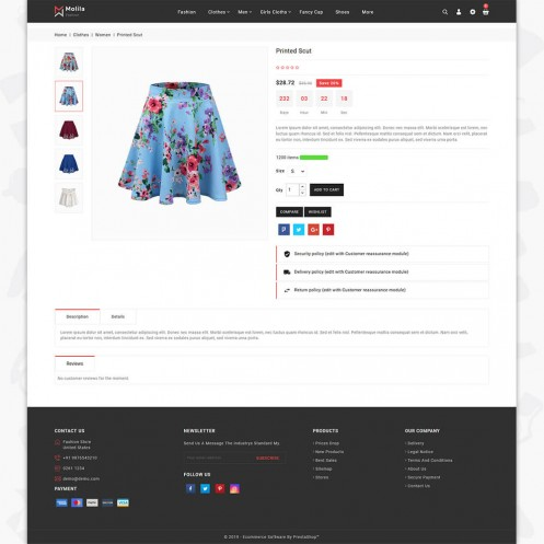 Molila - The Fashion PrestaShop Theme