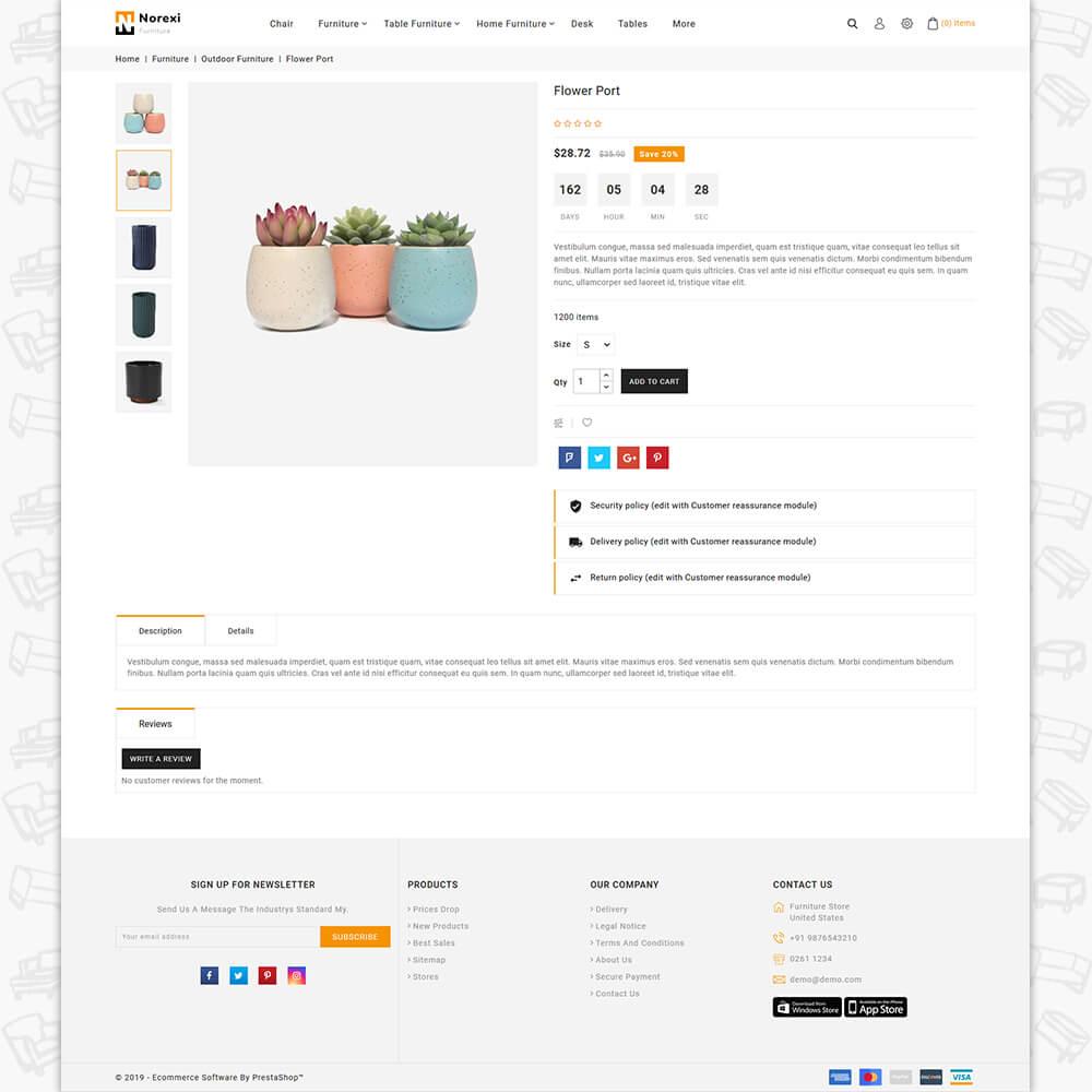 Noxeri - The Best Furniture Store Template